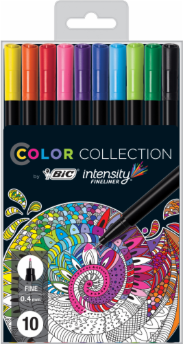BIC Intensity Fineliner Color Collection Fine Point Marker Pens Perspective: front