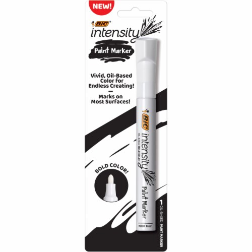 BIC Intensity Paint Marker - White Perspective: front