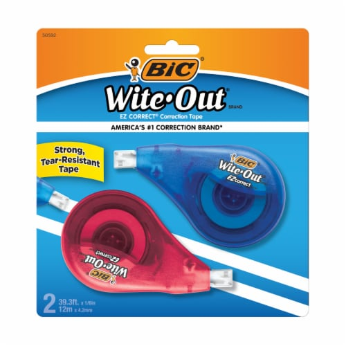 BIC Wite-Out EZ Correct Correction Tape - 2 pk Perspective: front