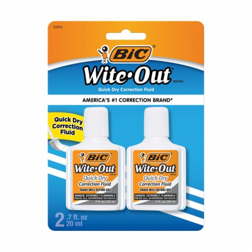 BIC Wite Out Quick Dry Correction Fluid Perspective: front
