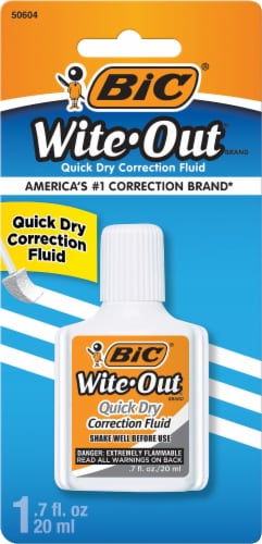 BIC Wite-Out Quick Dry Correction Fluid - White Perspective: front