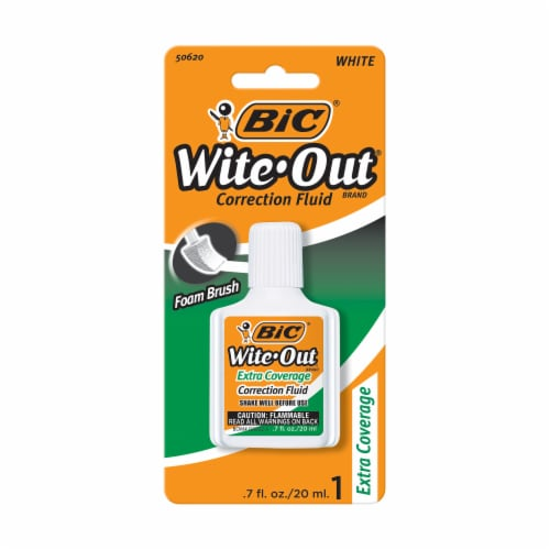 BIC Wite-Out Extra Coverage Correction Fluid Perspective: front