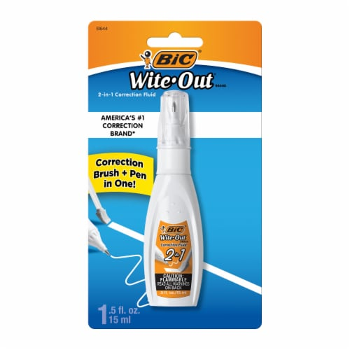 BIC Wite-Out 2-in-1 Correction Fluid - 1 Pack Perspective: front