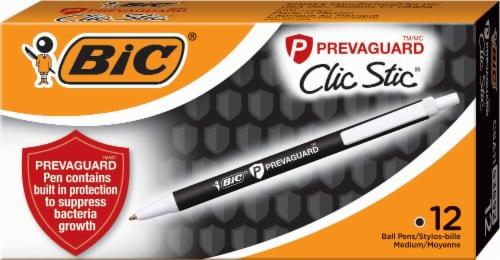 BIC Prevaguard Clic Stic Pen - Black Perspective: front