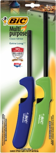 BIC Classic Extra Long Multi Purpose Lighters - Assorted Perspective: front