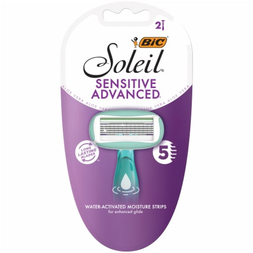 BIC Soleil Sensitive Advanced Razors Perspective: front