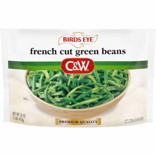 Birds Eye C&W French Cut Green Beans Perspective: front