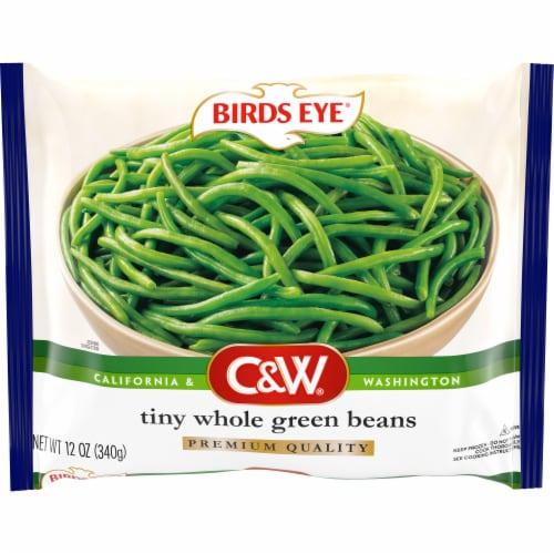 Birds Eye C&W Tiny Whole Green Beans Perspective: front