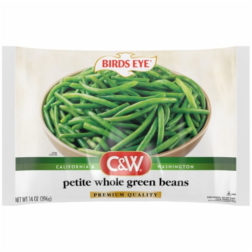 Birds Eye C&W Frozen Petite Whole Green Beans Perspective: front