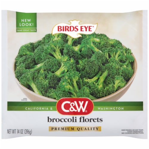 Birds Eye C&W Broccoli Florets Perspective: front