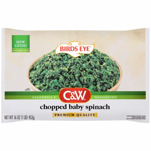 Birds Eye C&W Frozen Chopped Baby Spinach Perspective: front