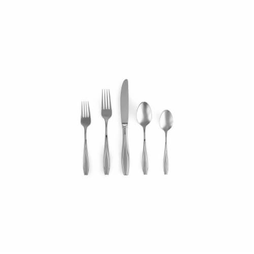 Gorham Tulip Frosted Flatware 5 Piece Place Set Perspective: front