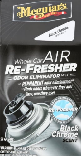 Meguiar's Black Chrome Scent Car Air Refresher Perspective: front