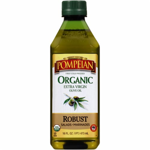 Pompeian® Organic Robust Extra Virgin Olive Oil Perspective: front