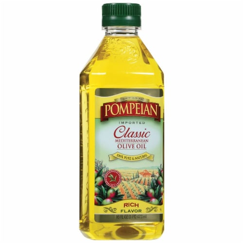 Pompeian Classic Mediterranean Olive Oil Perspective: front