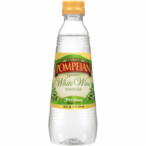 Pompeian White Wine Vinegar Perspective: front