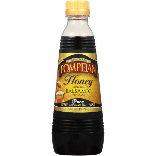 Pompeian Honey Infused Balsamic Vinegar Perspective: front