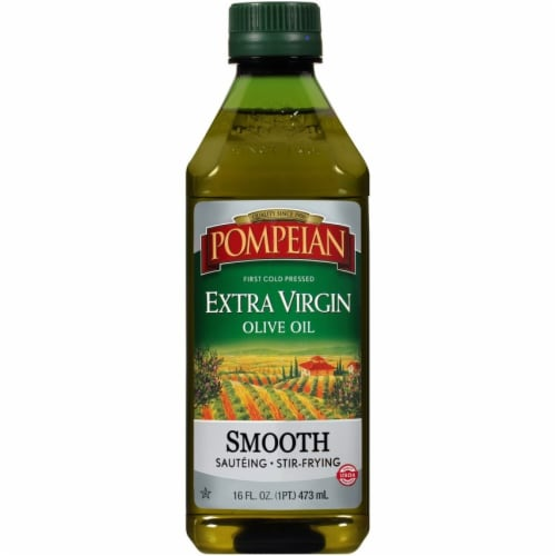 Pompeian Smooth Extra Virgin Olive Oil Perspective: front