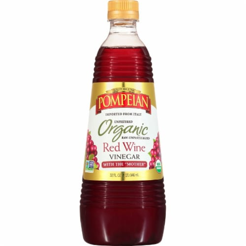 Pompeian Organic Red Wine Vinegar Perspective: front