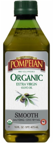Pompeian Organic Smooth Extra Virgin Olive Oil Perspective: front