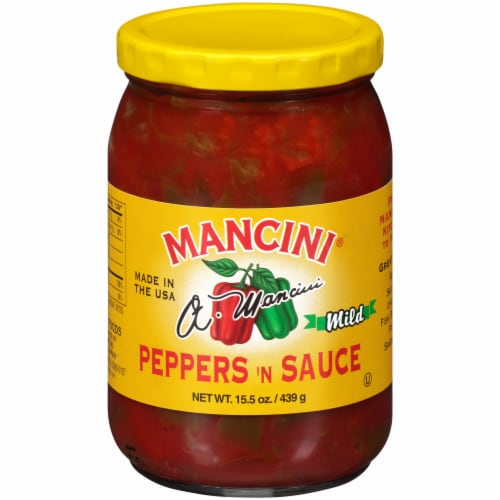 Mancini Mild Peppers 'N Sauce Perspective: front