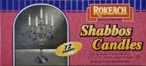 Rokeach Sabbath Candles Perspective: front