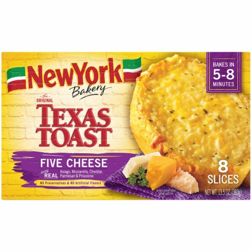 New York Bakery Five Cheese Texas Toast 8 Count Perspective: front