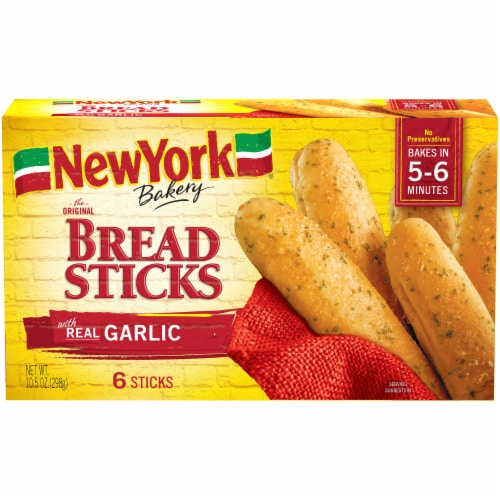 New York Bakery Garlic Bread Sticks 6 Count Perspective: front