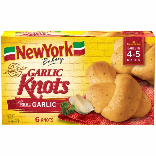 New York Bakery Garlic Knots 6 Count Perspective: front