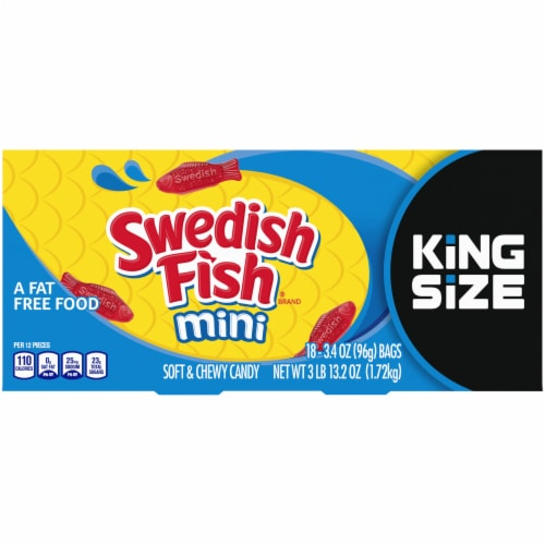 Swedish Fish Mini Candy King Size Perspective: front