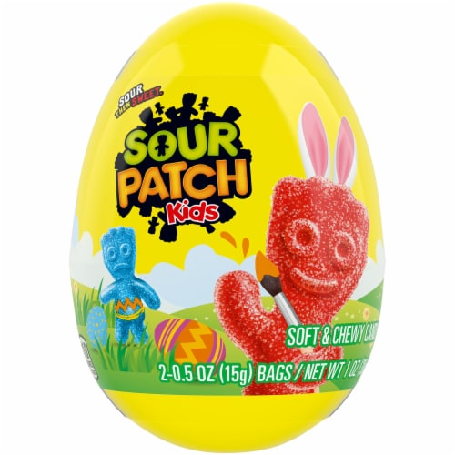 Sour Patch Kids Easter Egg Perspective: front