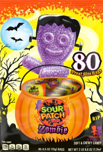Sour Patch Kids Zombie Treat Size Candy Bags Perspective: front