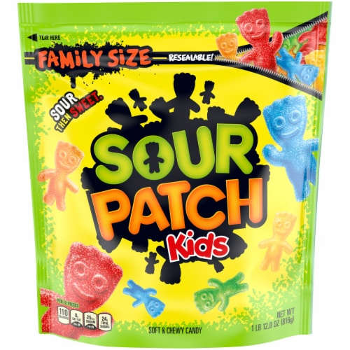 Sour Patch Kids Soft & Chewy Candy Family Size Perspective: front