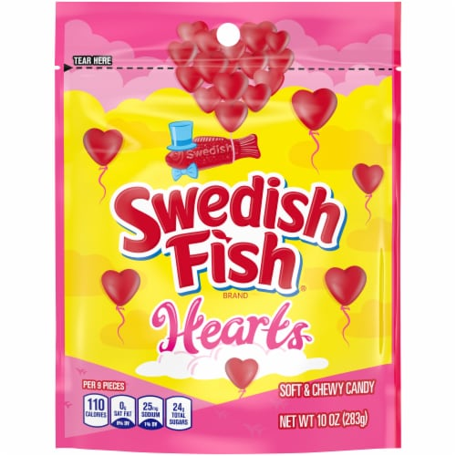 Swedish Fish Hearts Soft Candy Perspective: front