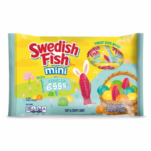 Swedish Fish Eggs Soft & Chewy Candy Perspective: front