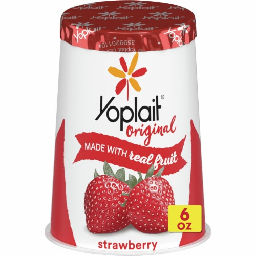 Yoplait Original Strawberry Low Fat Yogurt Perspective: front