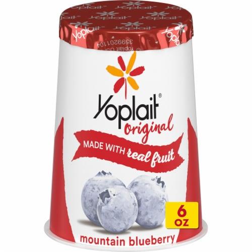 Yoplait Original Mountain Blueberry Low Fat Yogurt Perspective: front