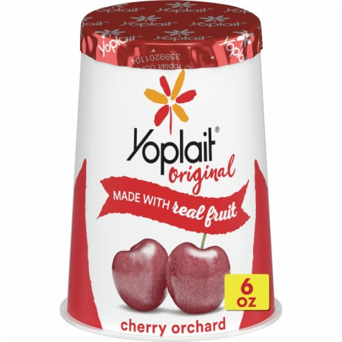 Yoplait Original Cherry Orchard Low Fat Yogurt Perspective: front