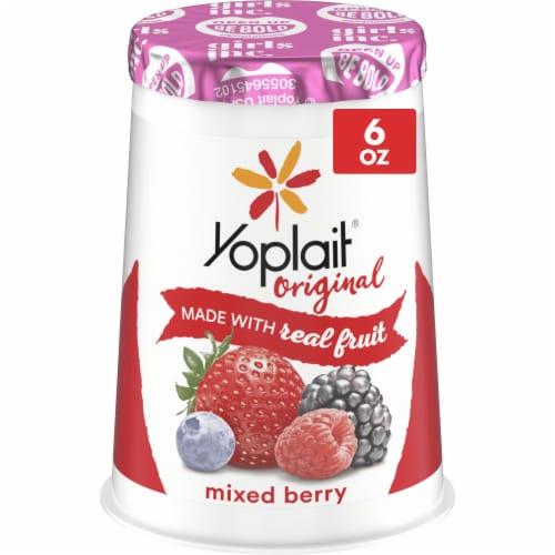 Yoplait Original Mixed Berry Low Fat Yogurt Perspective: front