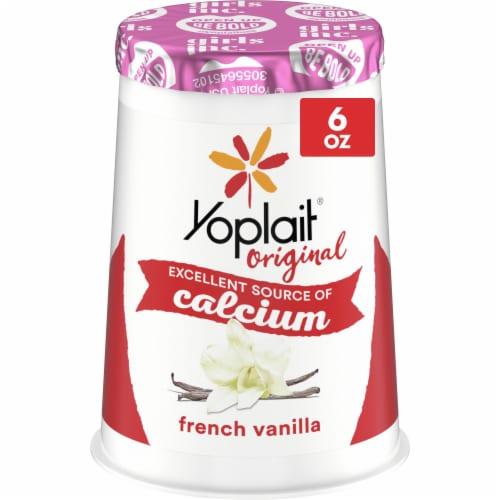 Yoplait Original French Vanilla Low Fat Yogurt Perspective: front