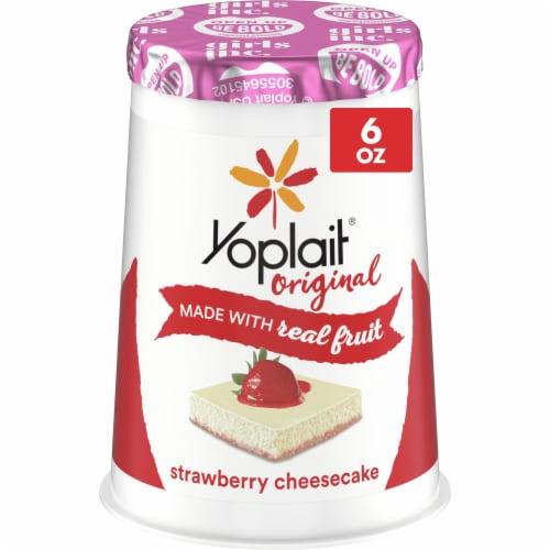 Yoplait Original Strawberry Cheesecake Low Fat Yogurt Perspective: front