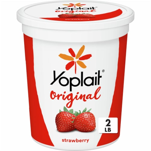 Yoplait Original Smooth Style Strawberry Low Fat Yogurt Perspective: front