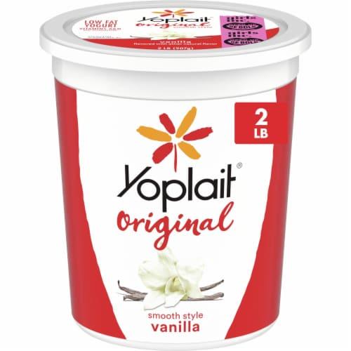 Yoplait Original Vanilla Low Fat Yogurt Perspective: front