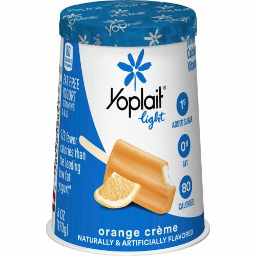 Yoplait Light Orange Creme Fat Free Yogurt Perspective: front