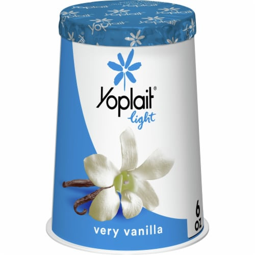 Yoplait Light Very Vanilla Fat Free Yogurt Perspective: front