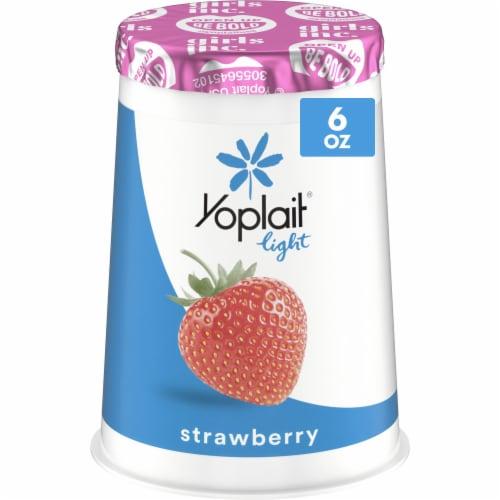 Yoplait Light Strawberry Fat Free Yogurt Perspective: front