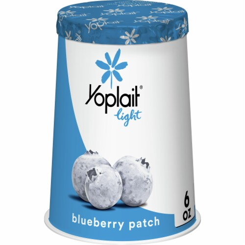 Yoplait Light Blueberry Patch Fat Free Yogurt Perspective: front