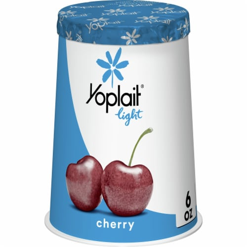 Yoplait Light Cherry Fat Free Yogurt Perspective: front