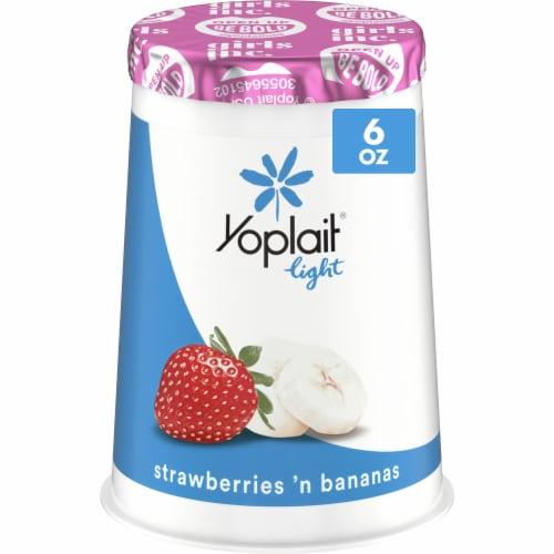 Yoplait Light Strawberries 'N Bananas Fat Free Yogurt Perspective: front