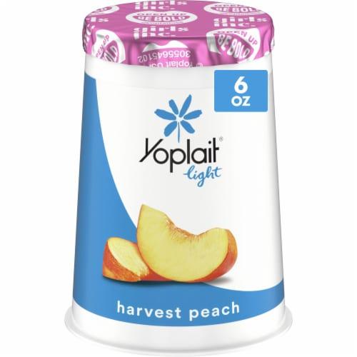 Yoplait Light Harvest Peach Fat Free Yogurt Perspective: front